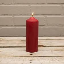 "2"" x 6"" Patrician Red Pillar Candles"