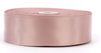 4 cm Double Face Satin Ribbon - Champagne Pink