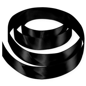 "7/8"" Satin Ribbon - Black"