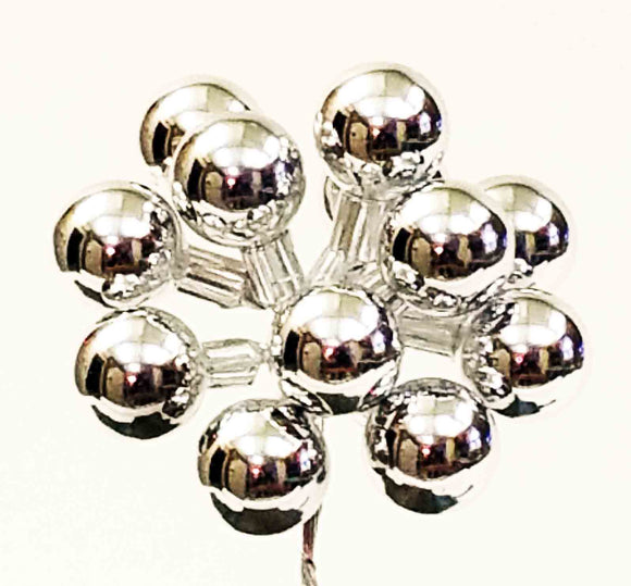 25mm Glass Balls - Silver