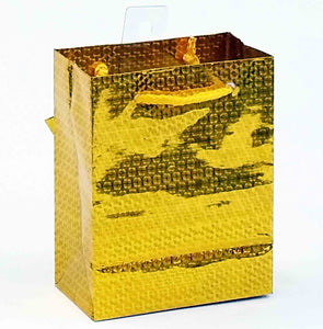 "5.5 x 10.5 x 13"" Large Gift Bag - Gold"