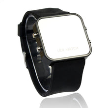 Load image into Gallery viewer, LED Calendar Day/Date Silicone Mirror Watch