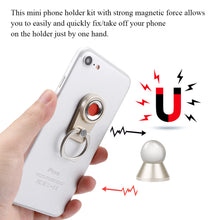 Load image into Gallery viewer, 2 in 1  Multi-functional Magnetic Car Phone Holder 360° Rotation Finger Ring & Car Phone Holder Bracket