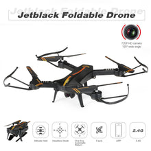 Load image into Gallery viewer, Jetblack 720P 120° Wide Angle Camera Wifi FPV Foldable Drone Altitude Hold One Key Return G-sensor Selfie Quadcopter with Hand Bag