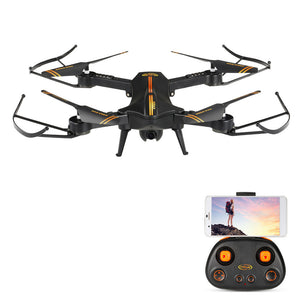 Jetblack 720P 120° Wide Angle Camera Wifi FPV Foldable Drone Altitude Hold One Key Return G-sensor Selfie Quadcopter with Hand Bag