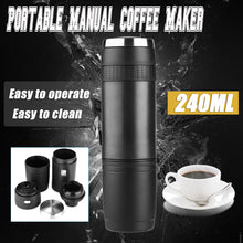 Load image into Gallery viewer, Portable Pressure Coffee Maker Manual Espresso Handheld Coffee Machine Bottle