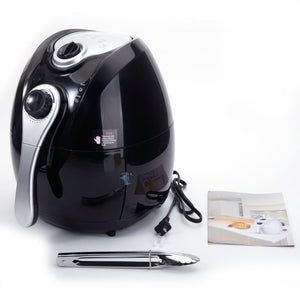 1500W Smart 4.2L Multifunctional Electric Air Fryer with Adjustable Temperature&Time (Black)