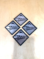 Light Duty Silver Small Trailbound Sticker 4 pack