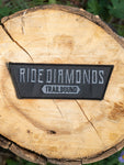 Stealth Grey Ride Diamonds Velcro Patches