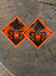 Ride Diamonds Ram Heavy Duty Sticker 2 Pack