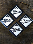 HD Trailbound White Sticker 4 pack