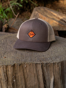 Brown N Orange Hat