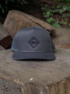 Grey Black Diamond Outline Hat