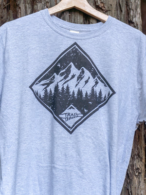 Mountain Tree Shirt Light Grey