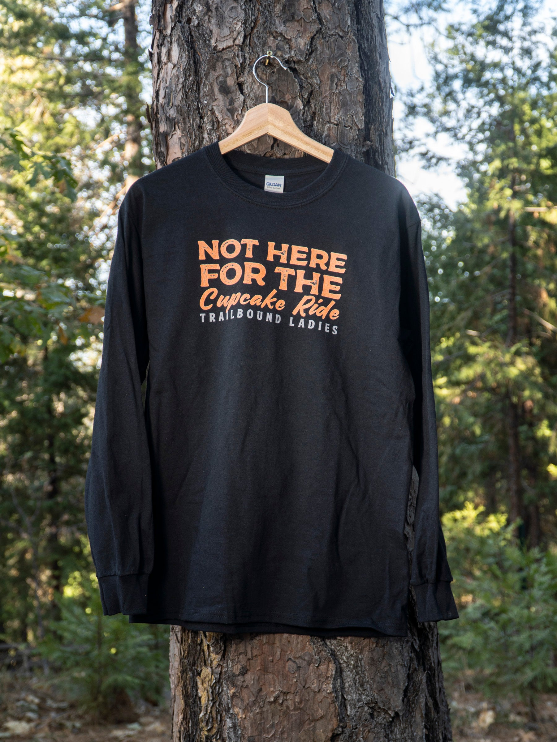 Not Here For The Cupcake Ride- Trailbound Ladies  Long Sleeve Shirt