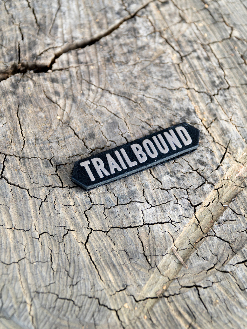Trailbound Sign Leather Velcro Patch