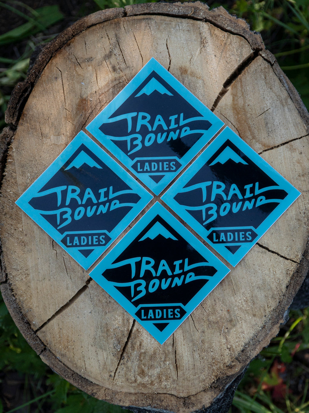 Trailbound Ladies Sticker 4 pack