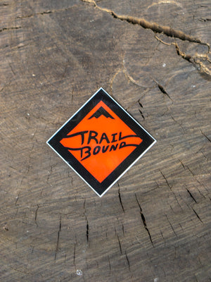 Heavy Duty Orange Trailbound Sticker 4 pack