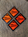 Heavy Duty Trailbound Sticker 4 pack Orange