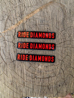 Ride Diamonds Trail Sign Sticker 3 Pack