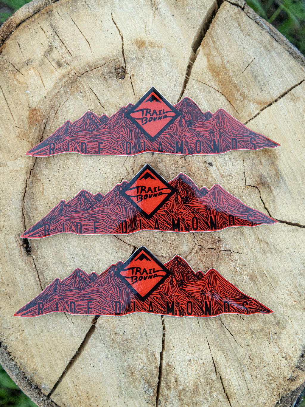 Mountain Topo Sticker 3 Pack