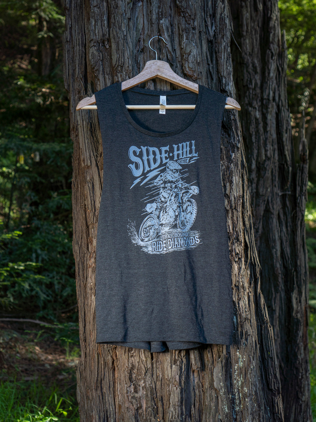 Side Hill or Die Ladies Muscle Tank