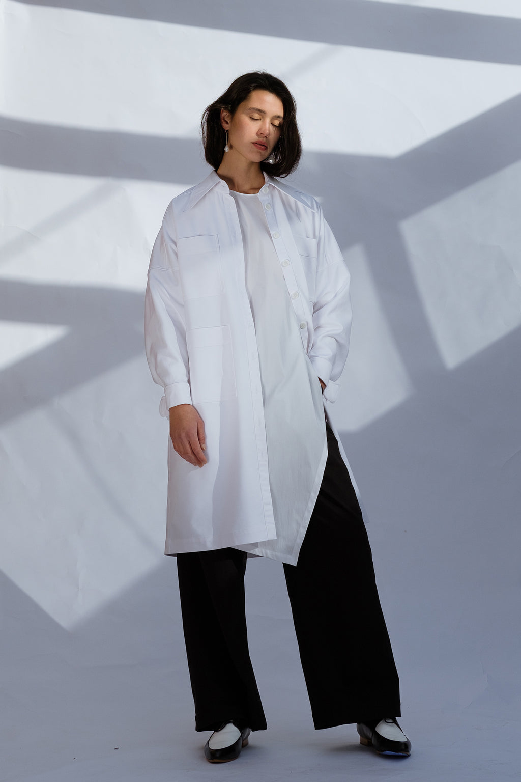 Psyche Overshirt/Dress - White