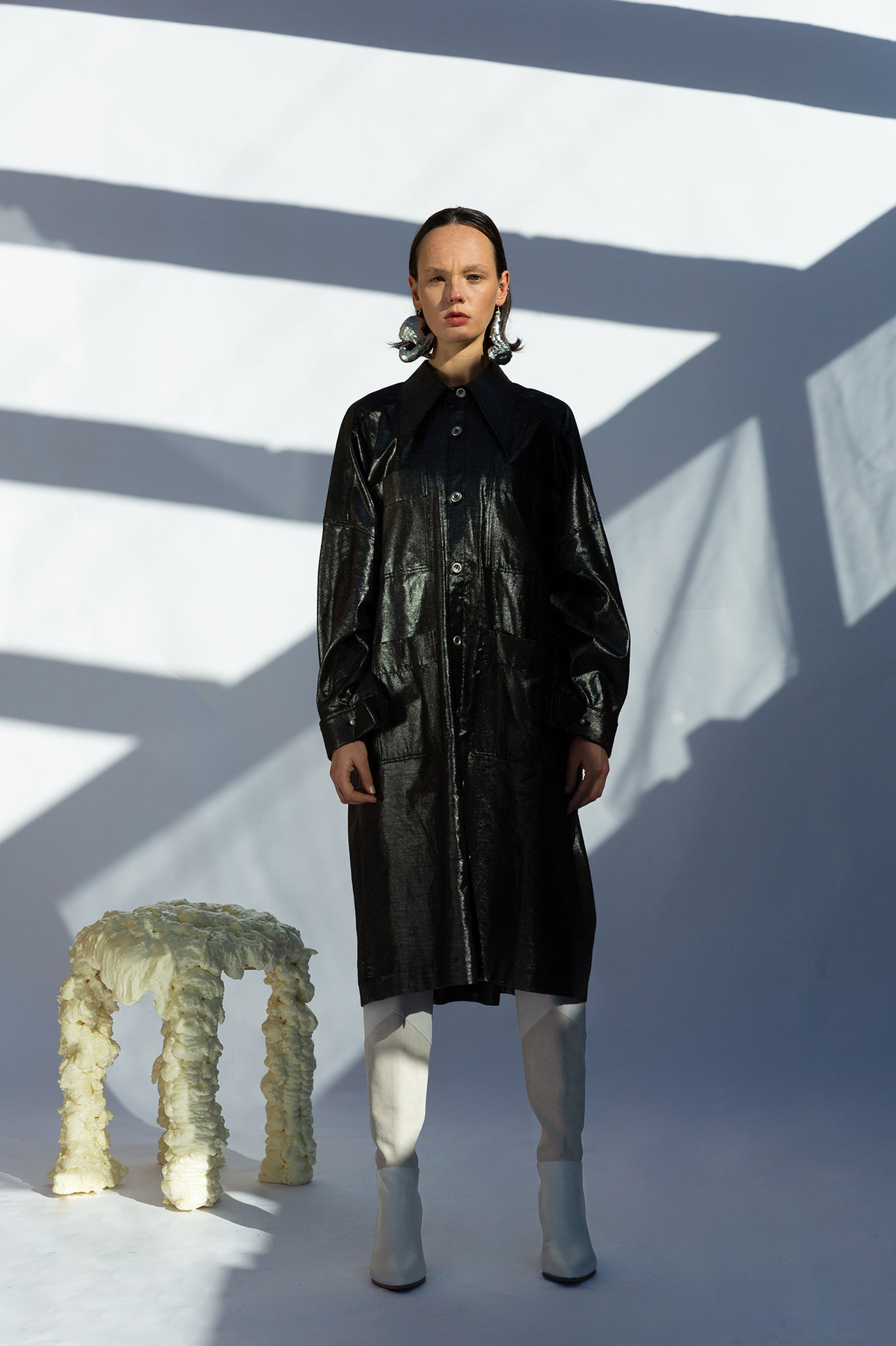 Psyche Overshirt/Dress - Thunder
