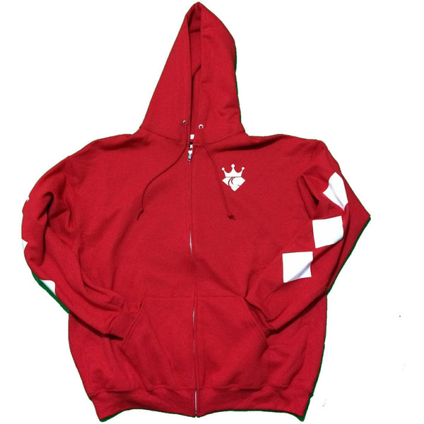 "Queens Link ""Diamond Queen"" Zip Hoodie (Red/White)"