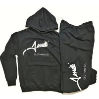 "Black Terrilli ""Signature"" Pull Over Hoodie Sweat Suit"