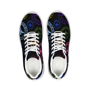 Terrilli Circle Logo Print Black Athletic Shoe