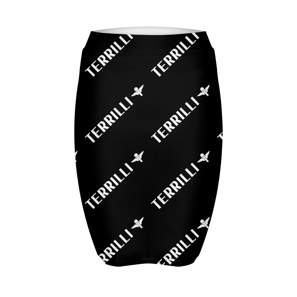 Terrilli Print Women's Mini Skirt (Black)