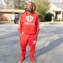 "Load image into Gallery viewer, Red/White Kings Link ""CheckMate"" Sweat Suite"