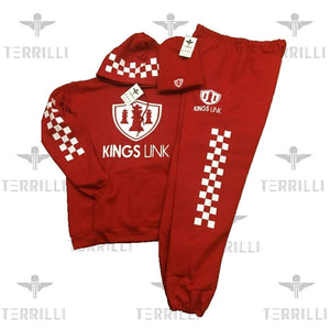 "Red/White Kings Link ""CheckMate"" Sweat Suite"