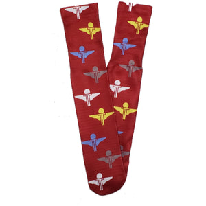 Terrilli All Over Logo Socks (Red/White/Yellow/Baby Blue)