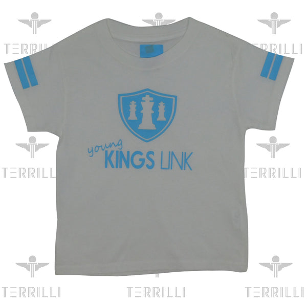White/ Baby Blue Young Kings Link T-Shirt XS