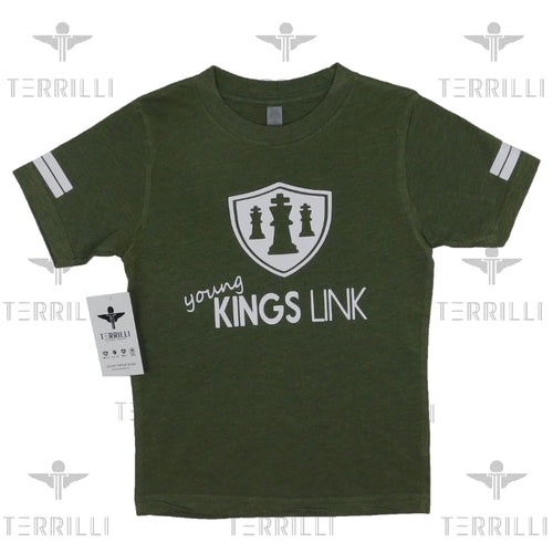 Army Green/White Young Kings Link T-shirt 4/5