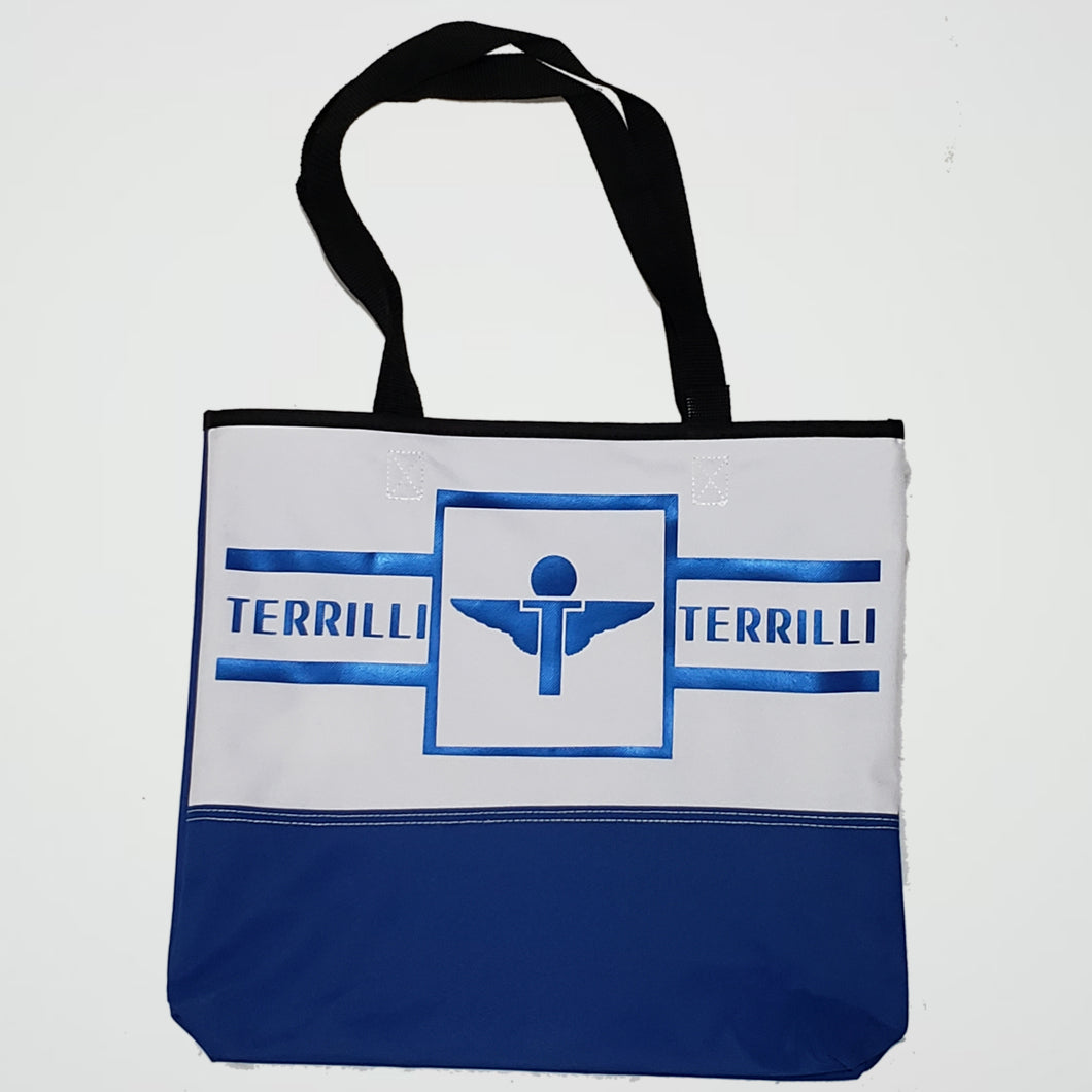 Terrilli Simple Tote Bag (White/Royal/Black)