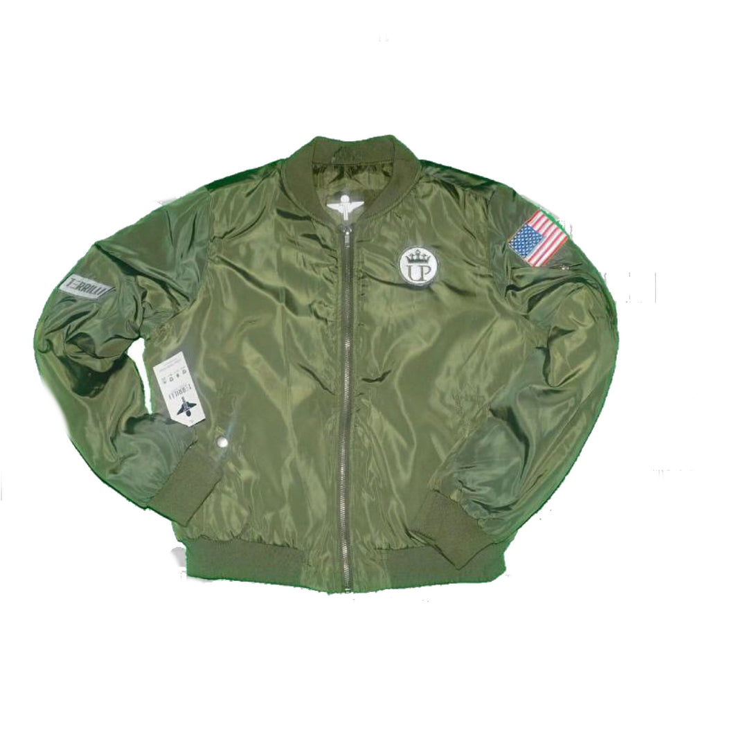 Army Green Unique Princess Bomber Jacket Kids Size Youth Large