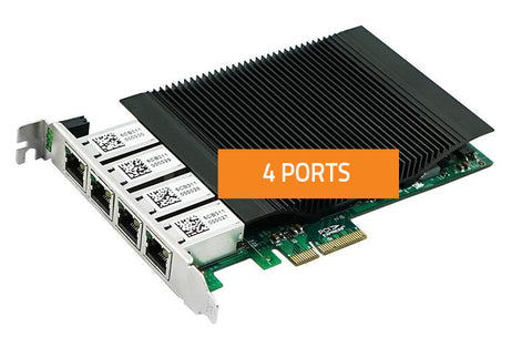 PoE Quad Port Network Card