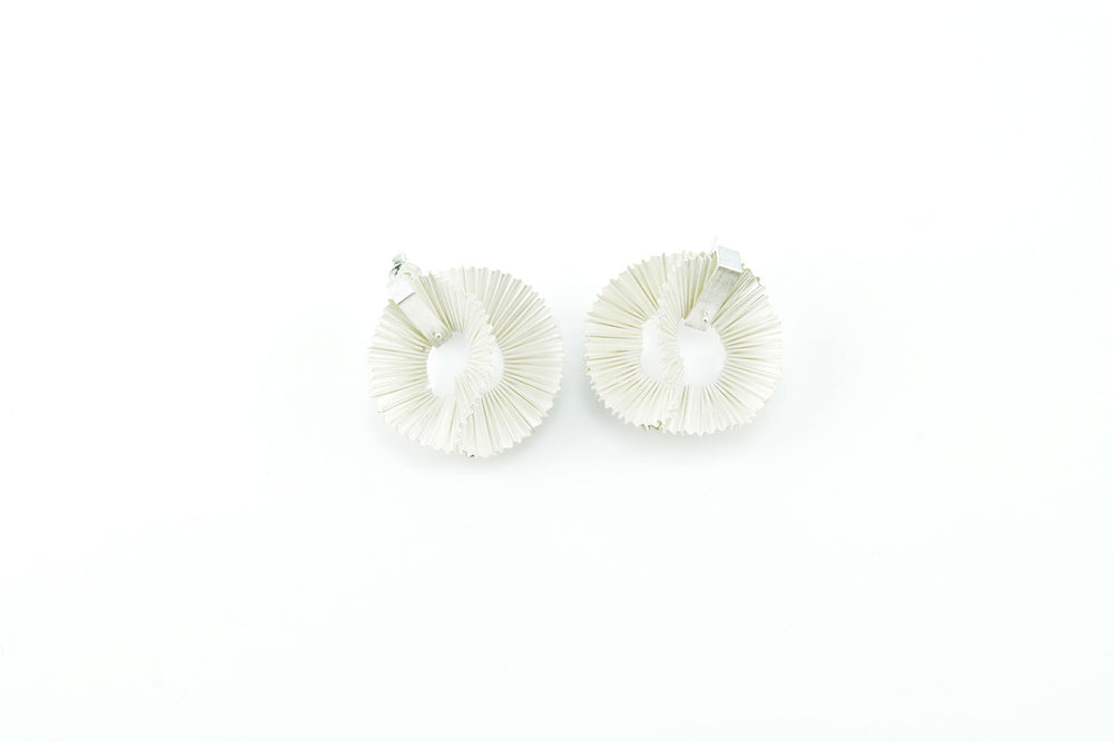 Earrings, white