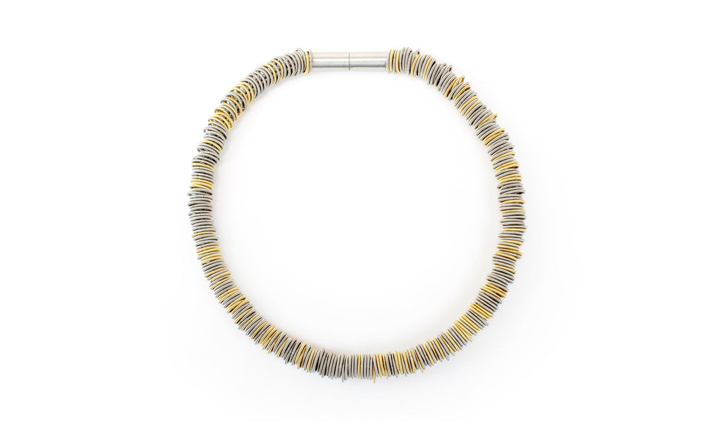 Necklace steel gold