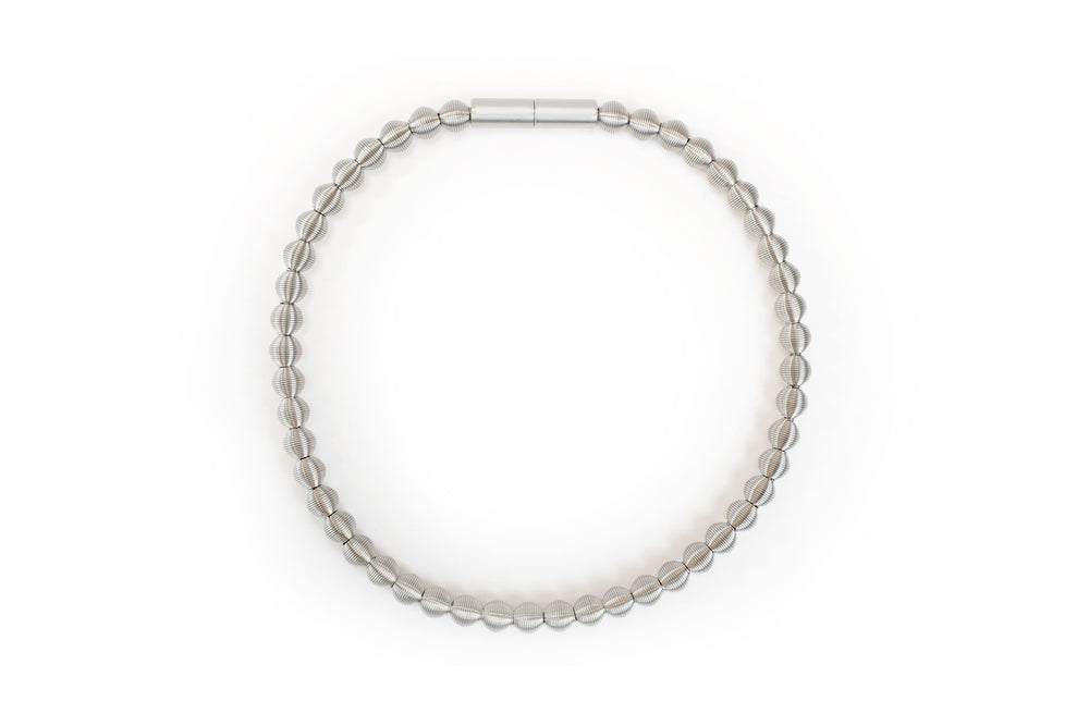 Necklace, steel spring