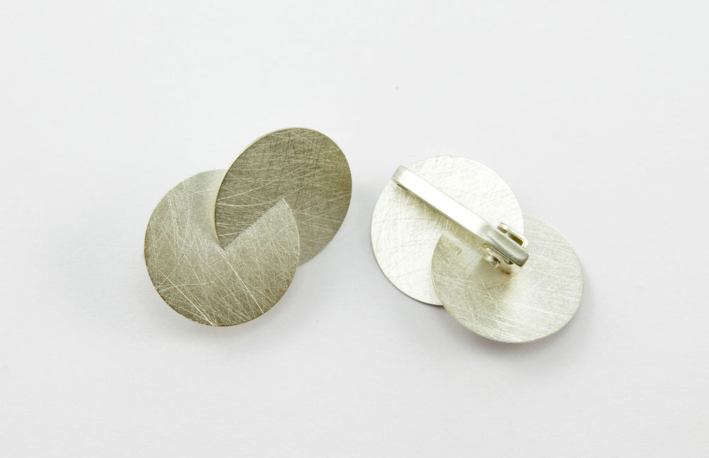 Earrings with clip, silver