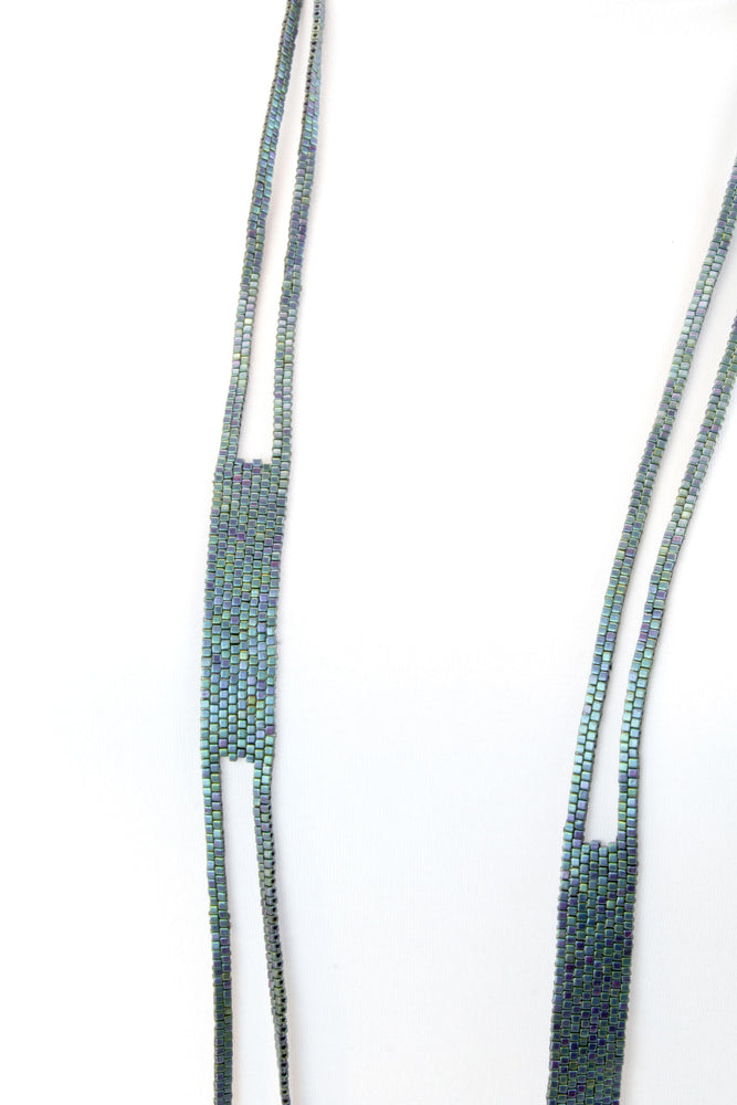 Necklace, blue/green