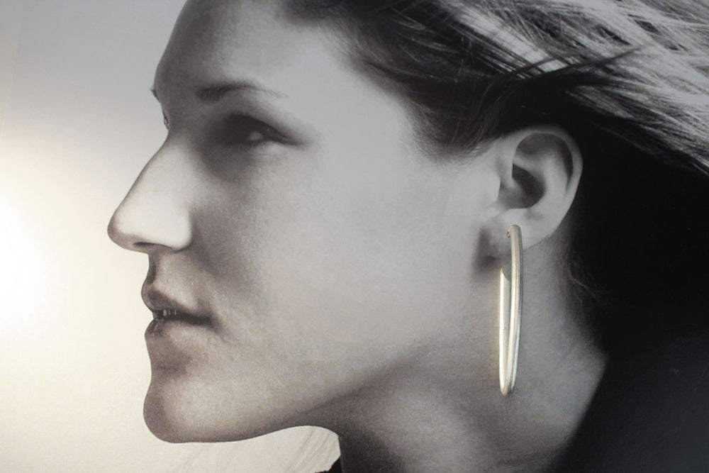 Earrings, pure silver