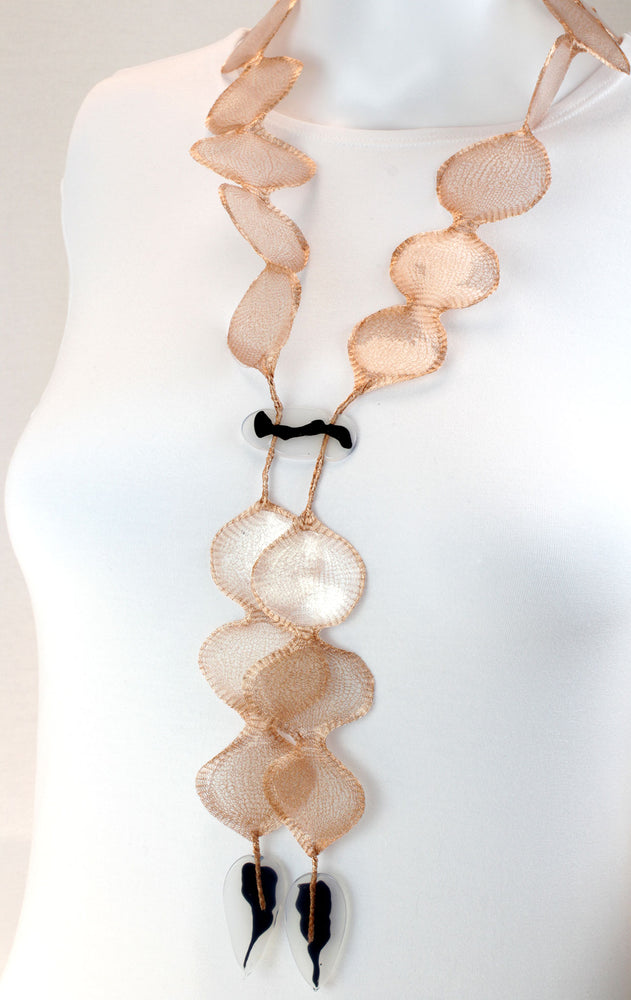 Necklace, salmon
