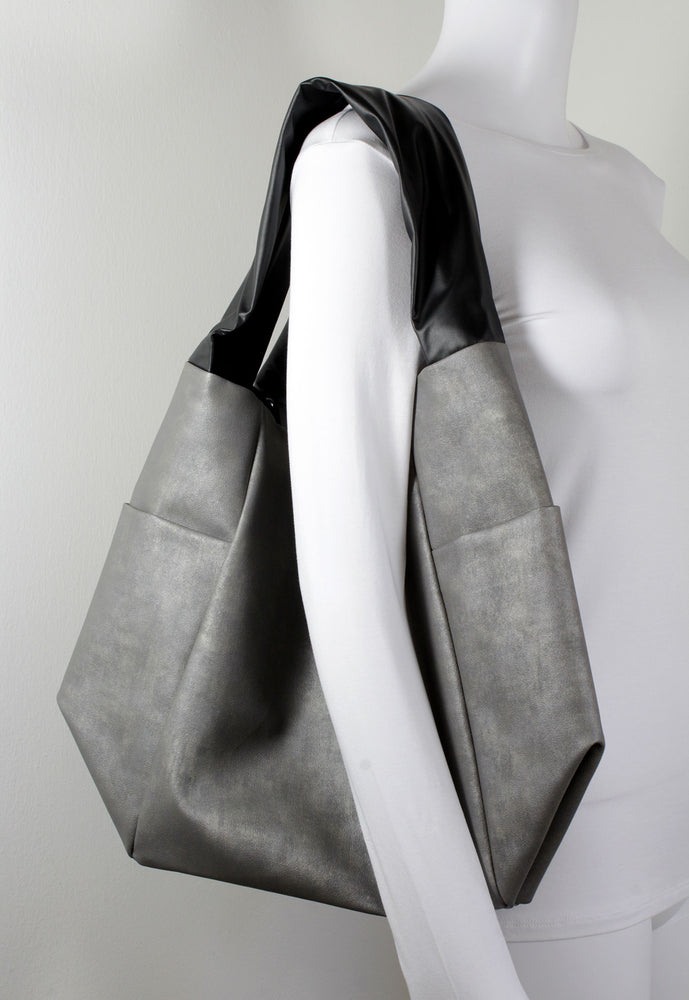 Grey and black bag