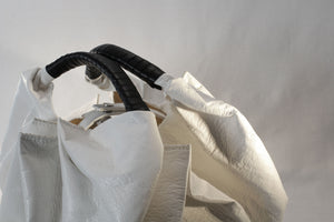 Bag, white vegetable leather