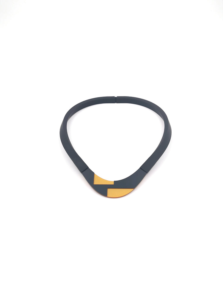 Black Rubber Necklace